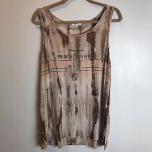 """Maurices tank Southwestern theme """"prickly things"""""""